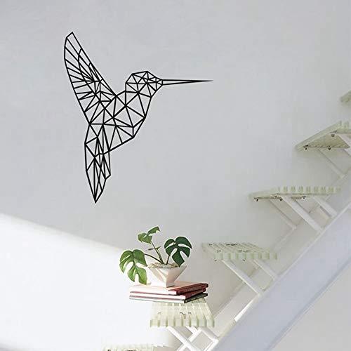 JXMN Vinilo geométrico Colibrí Pegatinas de Pared Fondo de Sala de Estar Serie geométrica Calcomanías de Pared Decoración de Arte para el hogar 65x56cm