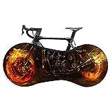 ALLILUYAA Copriruota per Bicicletta,Copertura da Interni per Biciclette,con Motivo a Fiamma,Tessuto Elasticizzato,per Pneumatici 26-29 Pollici Mountain,Road,MTB Bike
