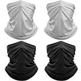 4 Pack Summer Neck Gaiter Cover Balaclava Dust Sun UV Protection Breathable Face Scarf Mask for Outdoor Sports Hiking Fishing Cycling Running
