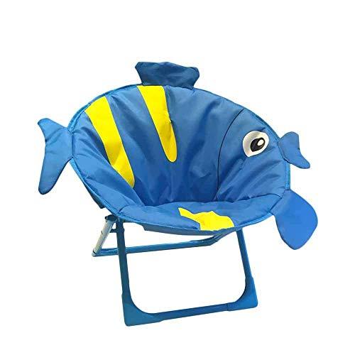 Iwinna Kids Cartoon Tropical Fish Folding Chair ,Portable Lawn and Camping Chair,Foldable Garden Chair Beach Folding Chair