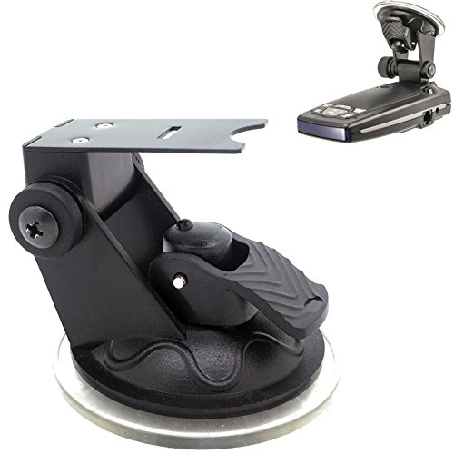 ChargerCity Car Windshield Strong Suction Cup Mount Radar Detector Holder for Escort Passport 9500ix 9500 8500 8500x50 x55 7500 S55 s75 s75g Solo S3 (Not compatible with model not listed)