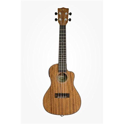 Kala KA-SMHCE-C Solid Mahogany Concert Cutaway Acoustic-Electric Ukulele, Small
