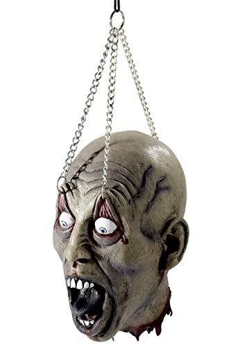 Smiffys Dismembered Head Latex-Aufhängung mit Ketten