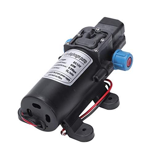 Sunsdew Negro 12V 60W Bomba de Agua de diafragma de presion Alta Automatico Apagar 5L / min