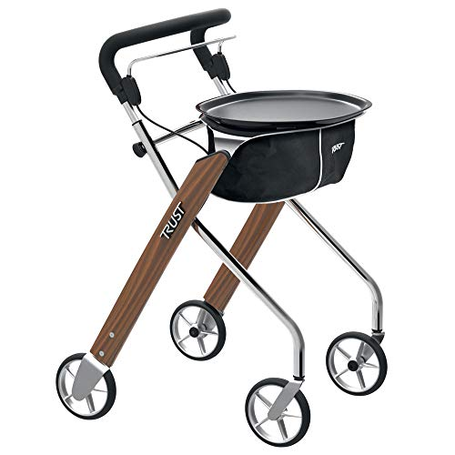 Trust Care Wohnraum-Rollator Let's Dream wallnuss-chrom