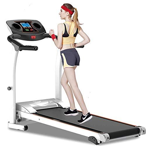 Foldable Steel Frame Treadmills, Adjustable Incline Fitness Exercise Cardio Jogging W/Emergency System Hand Grip Pulse Sensor Tablet Bottles Holder,Black SHIYUE WTZ012