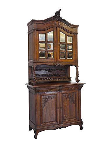 Antikes Buffet Louis Philippe um 1870 aus Eiche | Buffetschrank Küchenschrank | 2-türig | B: 121 cm (9695)