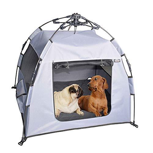 Teuffe Haus & Zelt für Hunde Katzen incl. Matratze camping klappbar