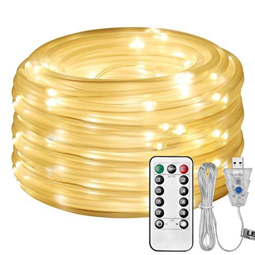 LE Cadena de Luces LED, 10m 100 LED 8...