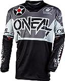 O'Neal   Jersey de Motocicleta   Bicicleta de montaña   Ajuste para una máxima Libertad de Movimiento, Protección Acolchada para los Codos  Jersey Element Warhawk   Adultos   Negro Gris   Talla XXL