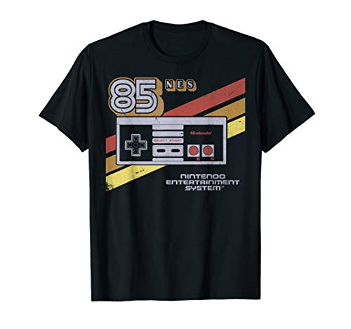 Nintendo NES Controller Retro Stripe 1985 T-shirt for Adults, Youth