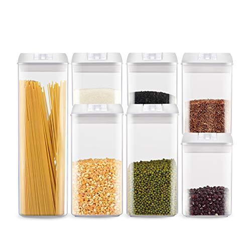 HSR Vorratsdosen Set 7-teilig | Schüttdosen Aufbewahrungsdosen Frischhaltedosen | luftdicht und stapelbar für Lebensmittel | LFGB Zertifiziert