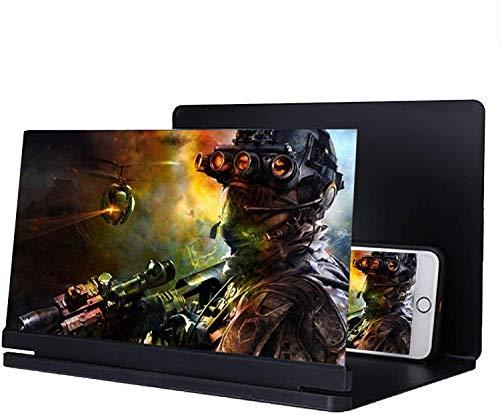 HAL 10' Bildschirm Vergrößerungs, Faltbarer 3D HD-Handy Projektor Bildschirmlupe für Filme, Videos, Spiele 3-fache Vergrößerung Antireflex - Unterstützt alle Smartphones