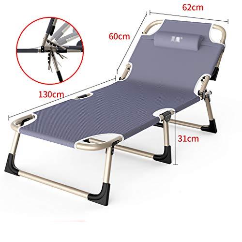 Haozai draagbare inklapbare zonneligstoel, zonneligstoel met zonnedak, inklapbare multifunctionele ligstoel voor de lunchpauze, draagbare klapstoel voor thuiskantoor 0304