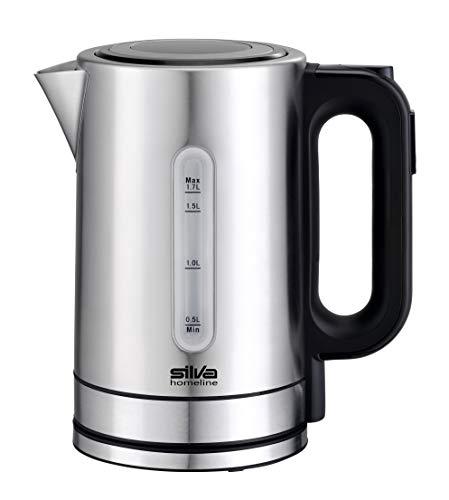 Silva-Homeline KL-T 2200 Edelstahl-Wasserkocher Control und beleuchteter Füllstandsanzeige, 5 wählbare Temperaturen, Rostfreier Stahl, 1.7 liters, 1