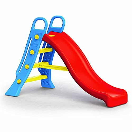 Dolu – Big Water Slide – 2 in 1 Large Blue Ladder and Red Slope Freestanding Slide for Kids Indoor & Outdoor (H104 x L165.5 x W77.5 cm)