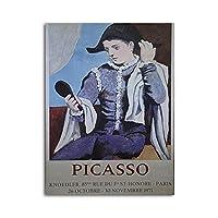 IUYBHRYI ピカソの肖像画兵士の少年のキャンバスの絵画家の装飾の写真リビングルームの壁の芸術のためのモダンなプリントポスター-50x70cmフレームなし