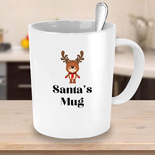 Santas mok met leuke rendier koffie mok gemakkelijk cadeau ideeën