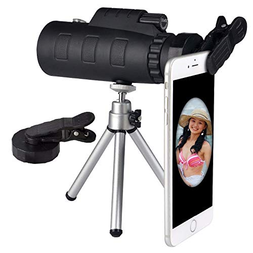 Universele 40X dubbele aanpassing Zoom Mobiele Telefoon Telescoop Lens Telefoon Externe Smartphone Camera Lens Inbouwkompas