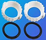pool spa part 2 Pack Spa Hot Tub Heater Split Nut Unions with Screw, 2 pcs Heater Gasket/O-Rings,(Actual Size 3 Inch,Suitable for 2 Inch Heater)