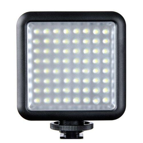 Godox LED64 Makro Blitzgerät schwarz – Flashs (Makroblitz, Schwarz, Universal, 5500 K, 4,5 W, Akku/Batterie)
