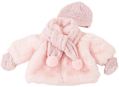 Götz 3402980 Winterset Furry Christmas - Puppenbekleidung-Set Gr. XL - 3-teiliges Bekleidungs- und Zubehörset für Stehpuppen von 45 - 50 cm