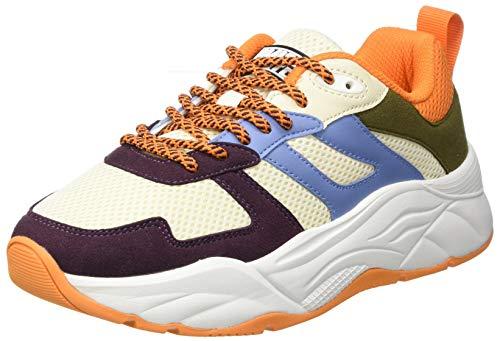 SCOTCH & SODA FOOTWEAR Celest Sneaker, Zapatillas Mujer, Bordo Multi, 39 EU