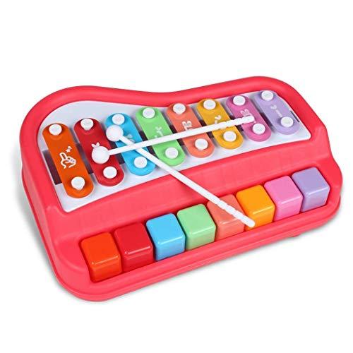 Yxp Baby Kinder Schlagen Musik Spielzeug Acht-Ton-Spieler Percussion Klavier Puzzle Früherziehung Musikinstrumente Jahre Alt Klavier Spielen Kindertastatur,Rot