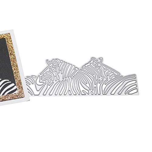 Kcibyvx Zebra Stanzschablonen Metall Schneiden Schablonen für DIY Scrapbooking Album, Schneiden Schablonen Papier Karten Sammelalbum Dekor