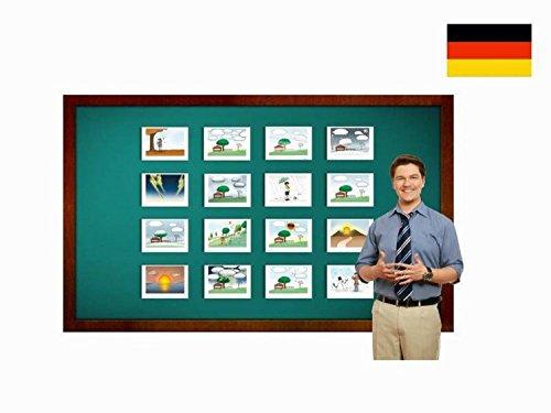 Yo-Yee Flashcards Bildkarten für den Deutschunterricht - Wetter und Jahreszeiten für den Sprachunterricht