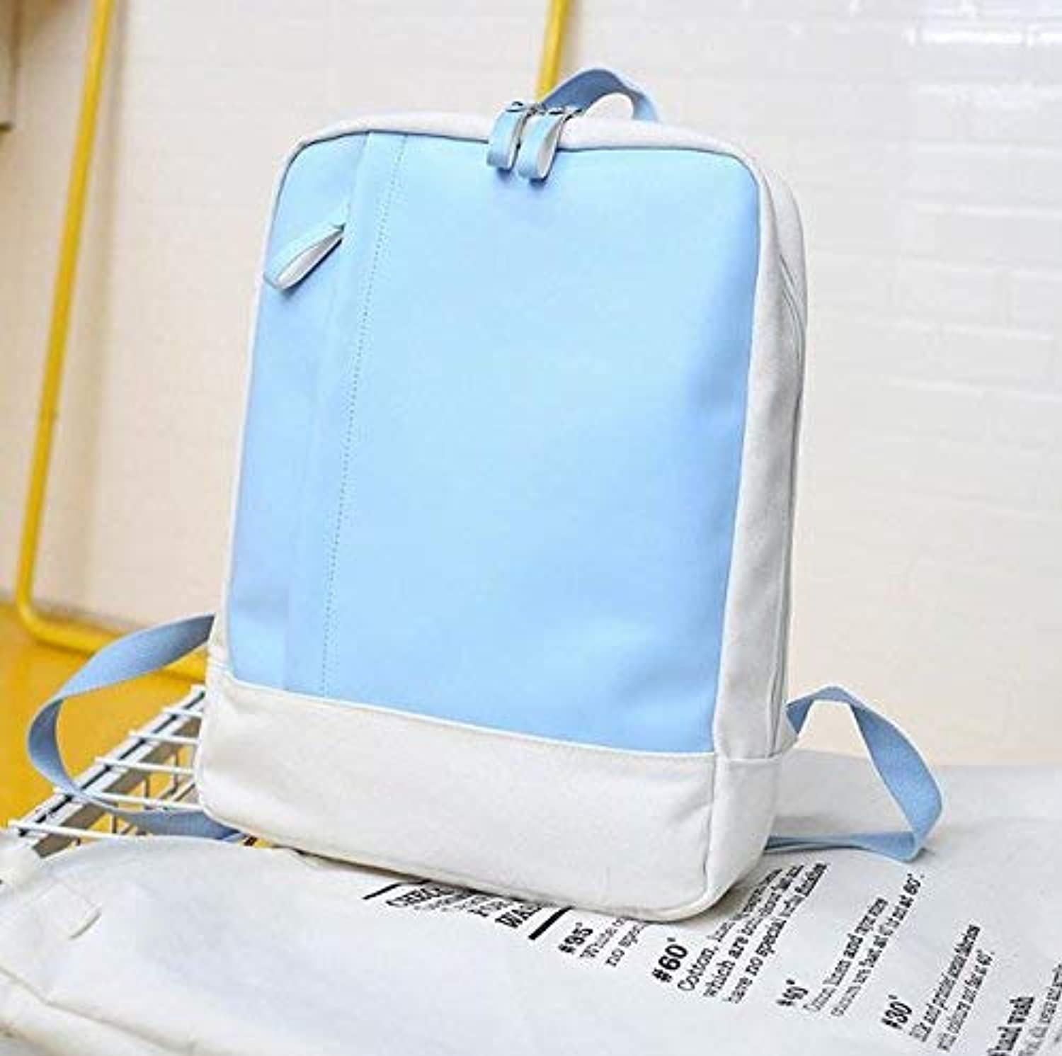 YUHUS HOME Personality Backpacks Fashion Leisure Backpack Laptop Backpack Street Shooting Travel Rucksack (color   bluee)