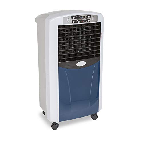 CLIMAHOGAR Calefactor portátil Inteligente, Aire Caliente, ionizador ecológico Inverter, Blanco/Azul, Premium