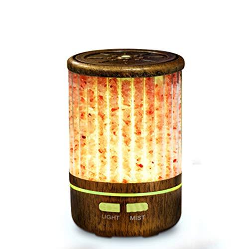 BEICHENG Humidificador de aire, lámpara de atmósfera, aceite esencial de aromaterapia, difusión de piedra de sal, humidificador de aire de niebla fina nano, dormitorio en casa