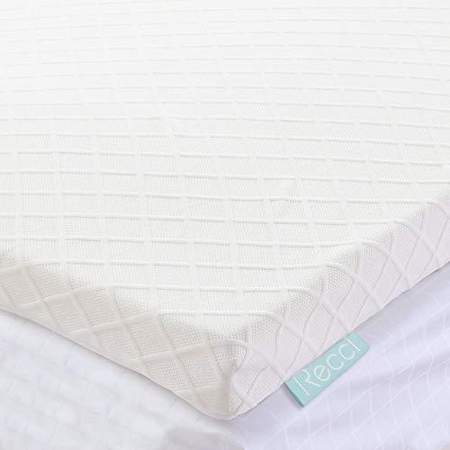 Cubrecolchón RECCI 160x190 6cm, sobre colchón para adultos con funda de bambú hipoalergénico - Cubrecolchón extraíble y lavable, refrescante, transpirable y suave