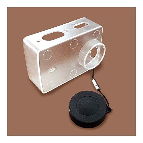 FUQUANDIAN Shell Protector Impermeable Transparente Ultrafino Caso de la Tapa de la Lente Cubierta for Xiaomi Yi 4K acción de la cámara 2 II Accesorios Accesorios de Soporte