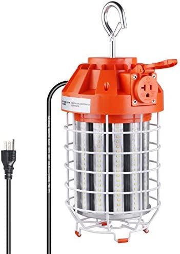 100W LED Temporary Work Light 5000K 14000Lm Outdoor Corded Portable Work Light Fixture with product image