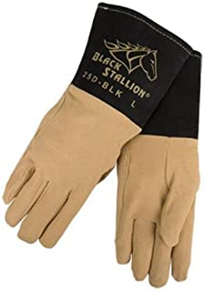 Revco Black Stallion 25D-BLK Premium Deerskin TIG Welding Gloves, Large