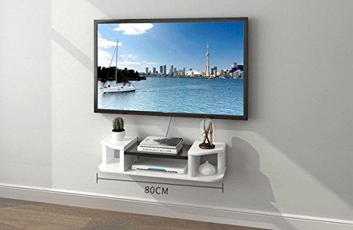 Étagères murales Set-top box rack mur meuble TV partition murale TV fond décoration murale rack étagère murale salon mur meuble TV blanc 1,2 mètres (Couleur : #1, taille : 120cm)