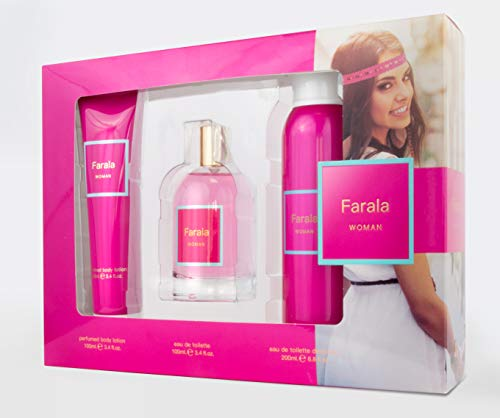 Farala #BFF Woman Eau de Toilette Natural Spray 100ml + Deodorant Spray 200ml + Body Lotion 100ml