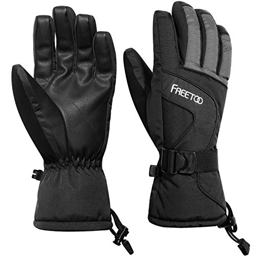 FREETOO Men's Ski Gloves High Breathable TPU Waterproof Membrane 340g Soft Cotton Warm Snowboard Gloves Winter (M-2019)