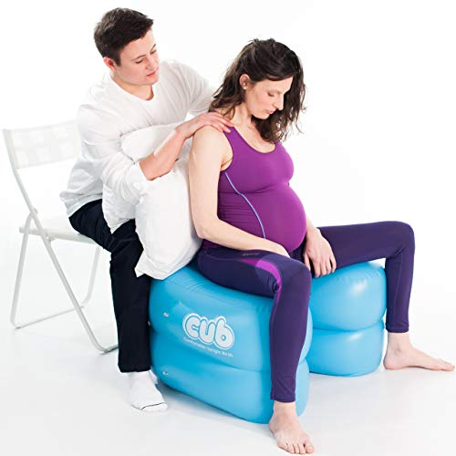 CUB Support for Pregnancy, Labor and Birth. Can Relieve Pregnancy Pelvic Pain, Promotes Safe, Healthy and Natural Birth Positions. Much More Than a Stool or Birthing Ball (Color Teal/One Size)