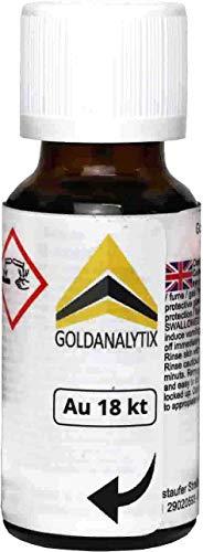 Ácido de prueba de oro (18 quilates, 750-20 ml) - Test de oro
