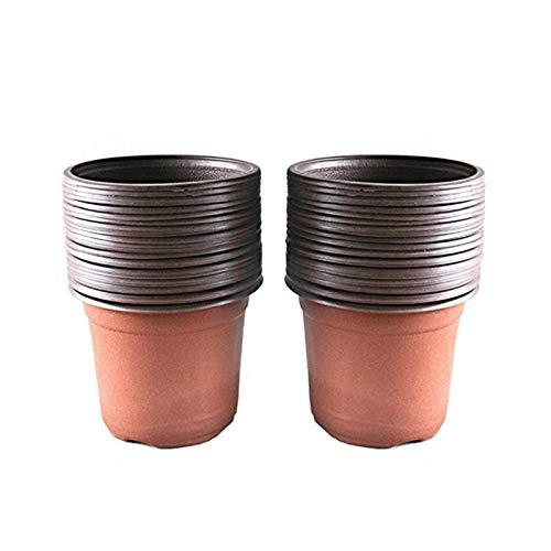 KINGLAKE 50 pcs 15 cm Plastique Plante Pots de Fleurs Pot de Semis Pépinières Fleur Plante Conteneur