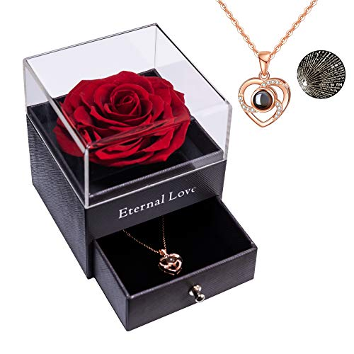 Rose éternelle Préservée Vraie Rose Préservée avec Love...