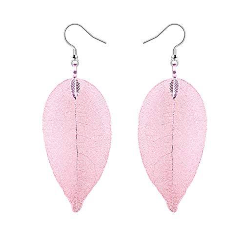 Pendientes personalizados, pendientes en forma de hoja, pendientes de moda, diseño elegante y generoso