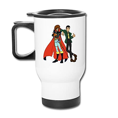 Taza de taza de coche Lupin Iii Meet Capitan Harlock Car Cup Stainless Steel Vacuum Insulated Double Wall Travel Tumbler Coffee Travel Mug