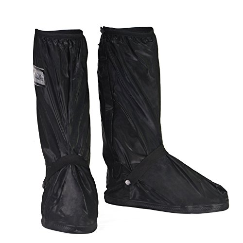 HSeaMall Zapatos a prueba de agua Cubierta Reutilizable Botas Cubierta Antideslizante Cremalleras oversize Talla (XL (43-45))