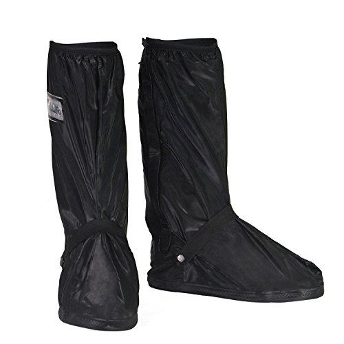 HSEAMALL Zapatos a Prueba de Agua Cubierta,Cubierta del Zapato Impermeable,Cubrecalzado Impermeable Moto Botas, Fundas de Lluvia para Zapatos (43/45 EU)