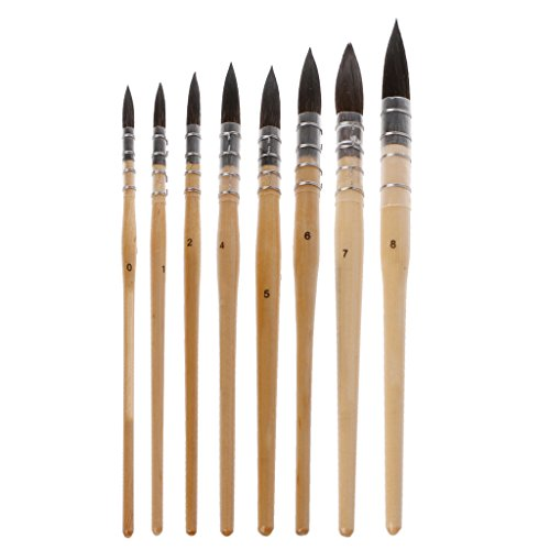 SimpleLife Handgemachte Chinesische Kaligraphie Pinsel Stift Nylon Haar Artis Zeichenpinsel für Kalligraphie Schreiben Kunst Malerei Aquarell Künstlerbedarf