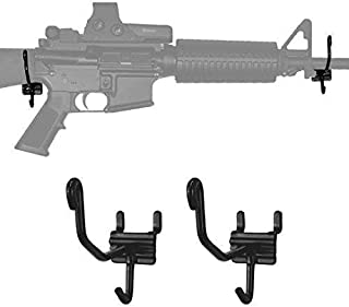 Slatwall and Grid Wall Gun Holders and Displays - Pistol Brackets, Gun Rack, for Organizing Pistols and Display, Gun Cradle, Left & Right Slat Wall Hooks